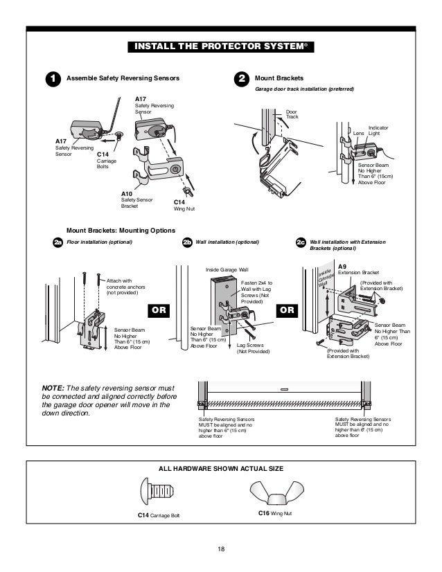 chamberlain garage door opener manual 18 638?cb=1465066307 chamberlain garage door opener manual chamberlain garage door sensor wiring diagram at mifinder.co